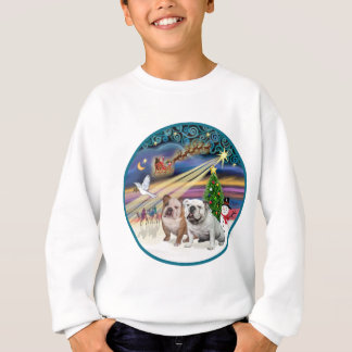 Xmas Magic (R) - Two English Bulldogs Sweatshirt