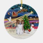 Xmas Magic - Red Sable Papillon Christmas Tree Ornaments