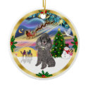 Xmas Magic - Silver Toy Poodle ornament