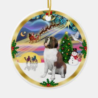 Xmas Magic - St. Bernard 1 Christmas Tree Ornaments