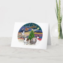 Xmas Magic -T wo Guinea Pigs Holiday Card
