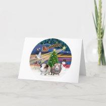 Xmas Magic -T wo Guinea Pigs Holiday Card