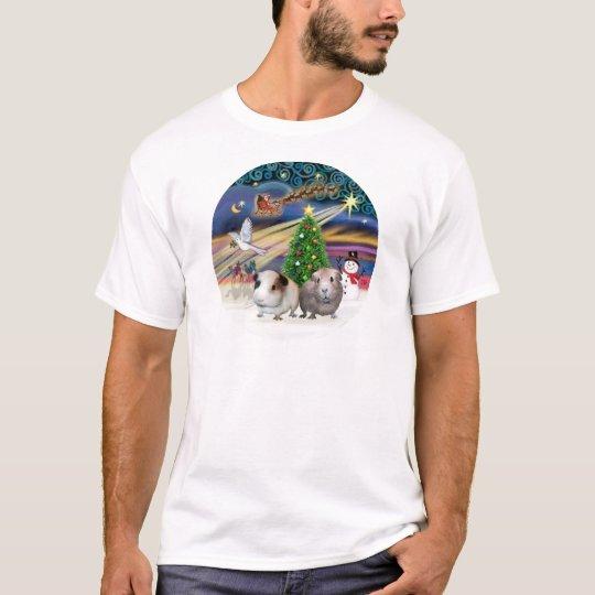 Xmas Magic -T wo Guinea Pigs T-Shirt