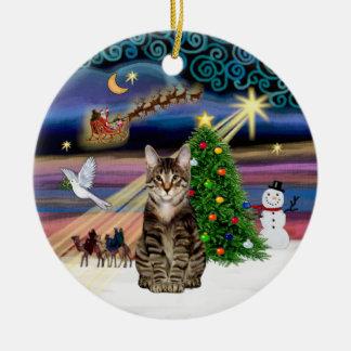 Xmas Magic - Tabby Tiger cat Christmas Tree Ornament