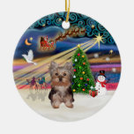 Xmas Magic - Yorkshire Puppy Christmas Ornament