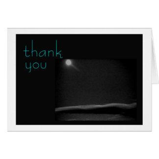 xmas moon,   thank you card