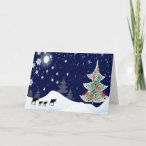 Xmas Moose Holiday Card