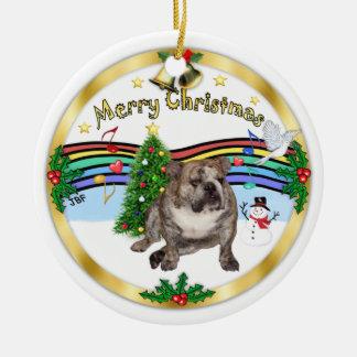 Xmas Music 1 - MC - English Bulldog 2 Ceramic Ornament