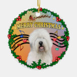 Xmas Music 1 - Old English Sheepdog Ornaments