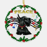 Xmas Music 1 - Peace - Scottish Terrier #12 Christmas Ornaments