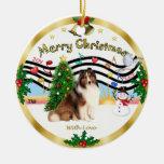 Xmas Music 1 - Shetland Sheepdog #7 Ornaments