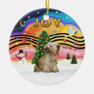 Xmas Music 2 - Cesky Terrier (wheaten) Christmas Tree Ornaments