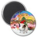 Xmas Music 2 - Guinea Pig 1 - hat Magnet