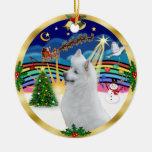 Xmas Music 3 - American Eskimo Dog #3 Ornaments