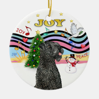 Xmas Music - Kerry Blue Terrier Ceramic Ornament
