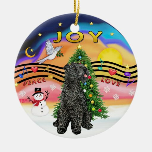 Xmas Music  - Kerry Blue Terrier Ornament