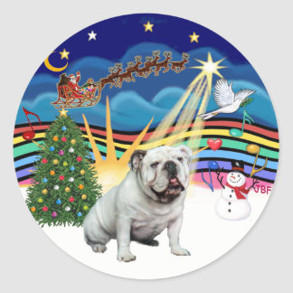 Xmas Music (R-3) - English Bulldog Stickers