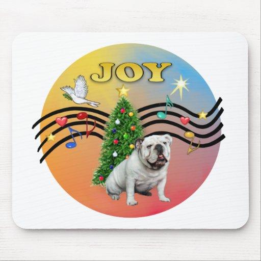 Xmas Music (R-Gr) - English Bulldog Mousepad