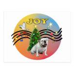 Xmas Music (R-Gr) - English Bulldog Post Card