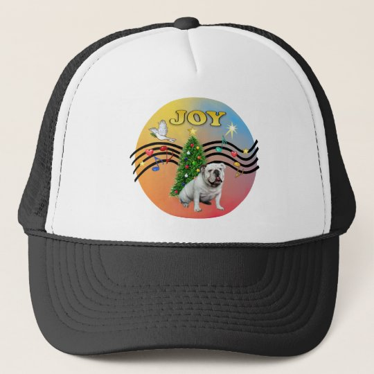 Xmas Music (R-Gr) - English Bulldog Trucker Hat