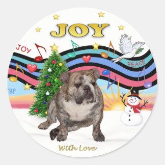 Xmas Music (RP) - English Bulldog 2 Sticker