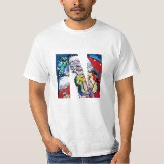 XMAS N LETTER /SANTA  CLAUS WITH VIOLIN MONOGRAM T-Shirt