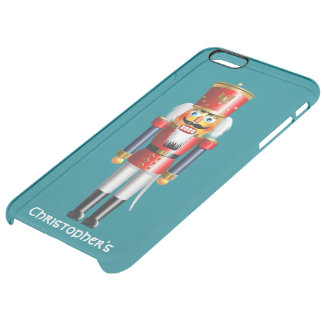 Xmas Nutcracker Soldier In Red And Blue Uniform Clear iPhone 6 Plus Case