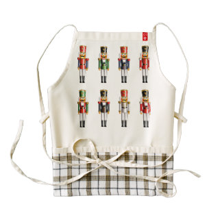 Xmas Nutcracker Soldiers Zazzle HEART Apron