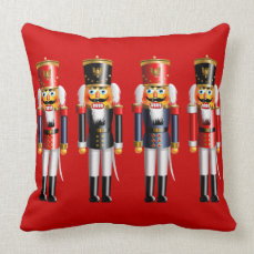 Xmas Nutcracker Throw Pillow