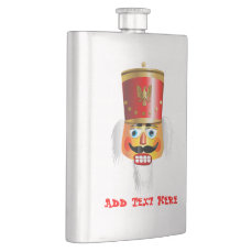 Xmas Nutcracker Toy Soldier Hip Flask