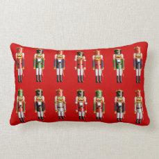 Xmas Nutcrackers Lumbar Pillow