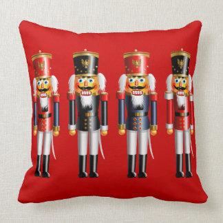 Xmas Nutcrackers Throw Pillow