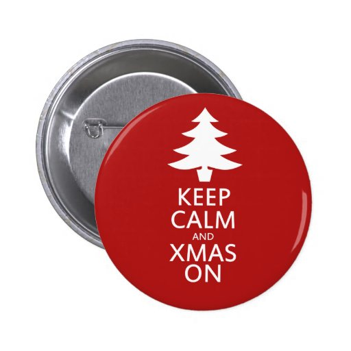 Xmas on 2 inch round button