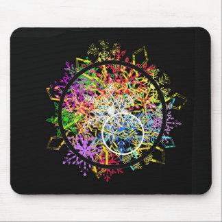Xmas ornament... flakes in circles. mouse pad