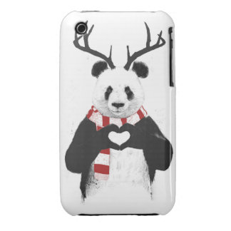 Xmas panda Case-Mate iPhone 3 case