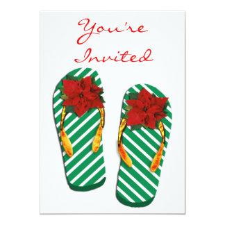 Xmas Party Flip Flops Card