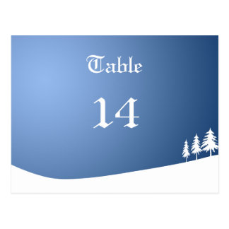Xmas party table number postcard