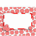 Xmas  Peppermint Candy Background w/ Removable Tag Cut Out