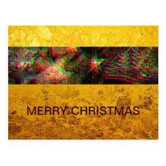 Xmas - Photo Stripe - Ghost + gold feaf Postcard