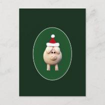 Xmas Pig Holiday Postcard