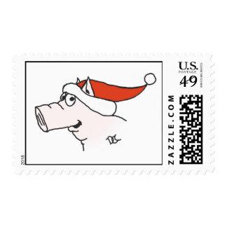 Xmas Pig Stamp