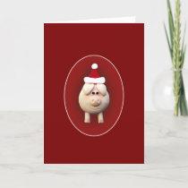 Xmas Piggy Holiday Card