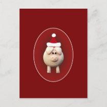 Xmas Piggy Holiday Postcard