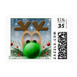 Xmas Post Cards Size Postage Stamps