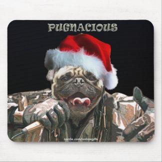 Xmas Pug Dog Rapper Music & Pet-lover Mousemat Mouse Pad
