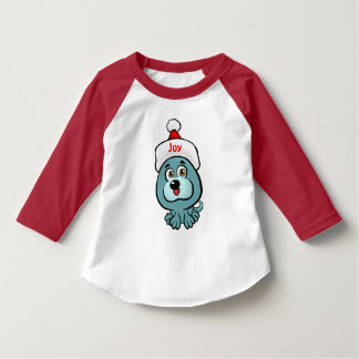 Xmas Puppy With Santa Hat T-Shirt