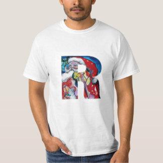 XMAS R LETTER /SANTA  CLAUS WITH VIOLIN MONOGRAM T-Shirt