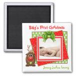Xmas Reindeer Baby's First Christmas Magnet Fridge Magnet