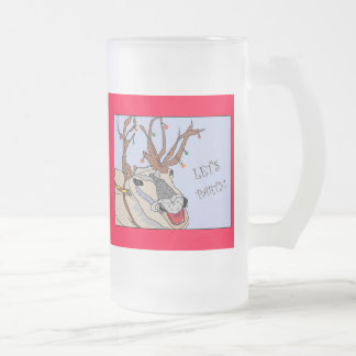 Xmas reindeer, Let's Party!, Merry  Christmas! Mugs
