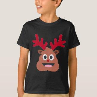xmas reindeer poo emoji T-Shirt